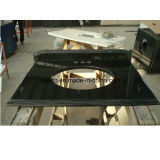 Popular High Polished Granity Black Vanity Tops