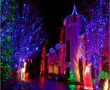 LEDの純滝のカーテンライト休日の市場の装飾