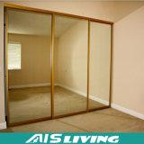 زجاجيّة باب أثاث لازم غرفة نوم مقصورة خزانة ثوب ([أيس-و037])