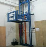 Bom tabela de elevador usada do elevador de frete do trilho do guia do elevador hidráulico do preço armazém