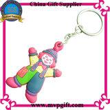 Rubber Keychain voor de Plastic Gift van de Sleutelring (m-PK12)