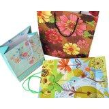 Sac à provisions de papier décoratif élégant, sac de papier de cadeau, sac de papier
