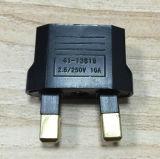 Us/EU к штепсельным вилкам переходники конвертера перемещения штепсельной вилки AC Великобритании 2pin электрическим