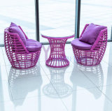 mobilia dell'interno di vimini manuale di svago di Belcony del rattan del vestito Three-Piece by-483