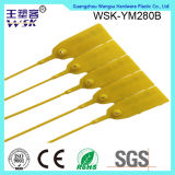 Shanghai-Plastikdichtungs-Fabrik-Großverkauf ein Zeit-Gebrauch-Plastikstreifen mit Firmenzeichen u. Seriennummer