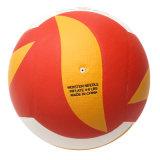 O plutônio macio elevado laminou o voleibol para o costume impresso do voleibol da praia do funcionário de aduanas do treinamento o logotipo relativo à promoção de borracha