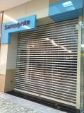 Porta transparente do obturador de rolamento do anúncio publicitário/policarbonato do centro comercial/loja