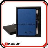 A5 gedrucktes Notizbuch mit Feder-u. Geschenk-Kasten-Set