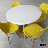 現代正方形の固体表面のレストランのコーヒーテーブル