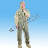Waterproof combinações de um terno, roupa protetora descartável