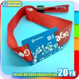 125kHz bracelete tecido T5577 da tela do bilhete da codificação E para o festival de música