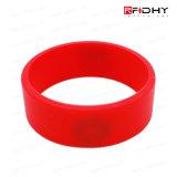 Etiqueta sin Contacto de la Venda de Reloj de la Pulsera del Wristband del Silicón del Hf RFID de la Aduana