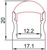 4201. 내각 점화를 위한 중단된 거치된 LED 알루미늄 단면도