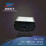 IP65 de LEIDENE Tuin Lichte 36*3W maakt OpenluchtMuur Opgezet LEIDEN DMX Licht 3 in 1 Licht van RGB LEIDENE Wasmachine van de Muur waterdicht