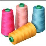 Hilado hecho girar el 100% del hilo de coser del poliester