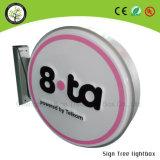 Round Vacuum Forming Sign Light Box Caixa de luz LED