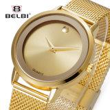 Belbi einfaches Geschäfts-wasserdichte Stahlquarz-Mann-Uhr