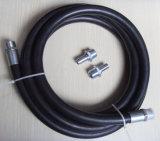 Ein 3/4 Zoll-bespritzen ISO zugelassene Gummikraftstoff-Zufuhr 3/4 '' Kraftstoff-Zufuhr-Schlauch mit einem Schlauch