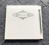 Cuaderno impreso aduana de la huésped del libro de la boda del Hardcover