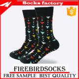 Mann-Baumwollschwarze Kleid-Socken 100%