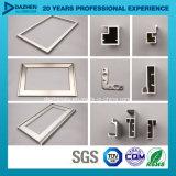 Aluminiumprofil für Küche-Schrank-Griff-Pinseldas glatte Matt-Silber anodisiert