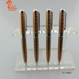 La pluma del grabado de Lexury electrochapa la pluma de bola del color del oro en venta