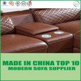 Büro-Möbel-Leder-Sofa mit Holzrahmen
