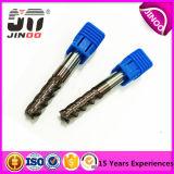 CNC Cutting Tool 4 Flauta Metal Duro End para Alumnium