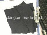 Ткань чистки Microfiber горячего штемпеля золотистая черная оптически