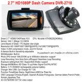"""2.7 """" TFTの表示、1.3mega車のカメラ、120degree視野角、1920*1080P車のブラックボックス、夜間視界のための6 IR LED、車DVR-2710が付いている熱く及び安い車DVR"""