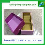 Rectángulo de papel de empaquetado del rectángulo del regalo del rectángulo de la botella de vino de la alta calidad
