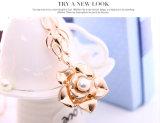 花の真珠のローズの金の吊り下げ式イヤリングのネックレス2 PCSの一定の方法宝石類