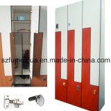 顧客用4tiers HPLの物質的な飾り戸棚はある場合もある