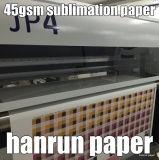 rullo enorme 45, 60, 70, documento di 500m/1000m/2000m di trasferimento di sublimazione della tintura 90GSM per Reggiani Printer/Ms-Jp4