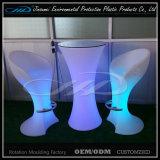 Muebles materiales del PE LED con el color que cambia para el jardín de la barra