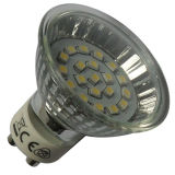 bulbo de vidro GU10 do diodo emissor de luz de 1.3W 230V (LED-MRG-003)