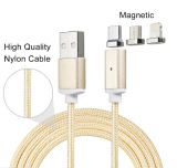 Carga rápida Nylon magnético de datos Micro USB Cable para iPhone iPad Dispositivos móviles