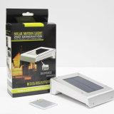 la iluminación al aire libre sin hilos IP65 Penel de la potencia PIR de 16LED de movimiento del sensor de la luz solar de la pared impermeabiliza la luz de la noche de la lámpara del jardín