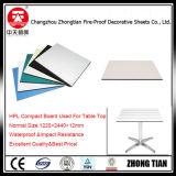 Tarjeta incombustible superior compacta del laminado del compacto de la tarjeta de la tarjeta del laminado de la alta presión de vector de HPL