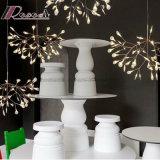 Indicatore luminoso acrilico bianco decorativo europeo del lampadario a bracci del foglio