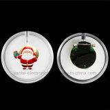 Distintivo di plastica del tasto dei regali LED di natale di Cusmtom (3569)