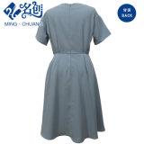 Graue kurze Hülsen-Form-Damen A - Zeile Kleid
