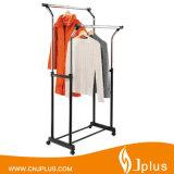 Salut-Qualit bride de fixation de crémaillère de vêtements avec des roues pour les vêtements de séchage Jp-Cr407