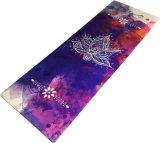 I reticoli su ordinazione hanno stampato la stuoia di yoga della pelle scamosciata di Microfiber della stuoia di yoga e della gomma naturale