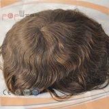 100% 브라질인 머리 남자 (PPG-l-0221)를 위한 어두운 Brwon 색깔 Toupee
