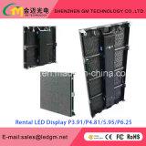 Parete della regolazione di concerto, schermo del LED, visualizzazione di LED locativa, P3.91, USD660/M2