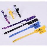 PVC de la aduana un pulsera/Wristband del tiempo para la promoción, venta caliente ajustable