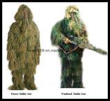 3D Kleding van de Camouflage van het Bewijs van de Brand van het Kostuum Ghillie van de Jacht Anti Infrarode
