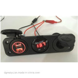 Neue Fahrzeuge und Behälter konvertierte 3.1V verdoppeln USB-Aufladeeinheits-Kontaktbuchse mit wasserdichtem Spannungs-Messinstrument und 12V Energiequelle-Kontaktbuchse, Auto USB-Aufladeeinheit