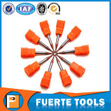 herramientas que muelen de la nariz de la bola redonda 2flutes para el corte de acero de la velocidad